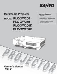 Manual do Usuário Sanyo PLC-XW200K