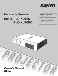 Bedienungsanleitung Sanyo PLC-XU106