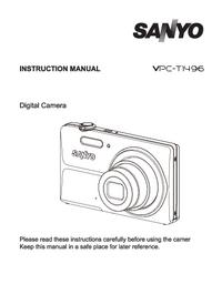 Manuel de l'utilisateur Sanyo VPC-t1496