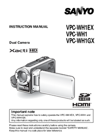 User Manual Sanyo VPC-WH1EX