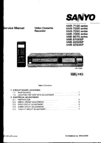 Manual de servicio Sanyo VHR-7100