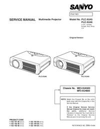 Instrukcja serwisowa Sanyo PLC-XU45