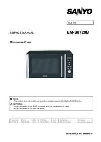 Руководство по техническому обслуживанию Sanyo EM-S8720B