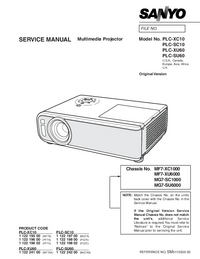 Service Manual Sanyo PLC-XC10