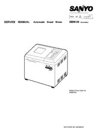 Servicehandboek Sanyo SBM-20