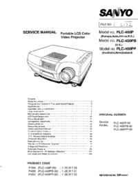 Serviceanleitung Sanyo PLC-400PP