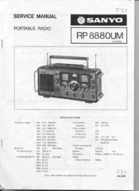 Service Manual Sanyo RP 8880UM