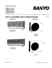 Руководство по техническому обслуживанию Sanyo 09KH11X