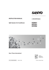 User Manual Sanyo KS0951