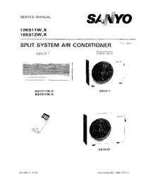 Service Manual Sanyo 12KS11X