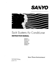 User Manual Sanyo KS3622