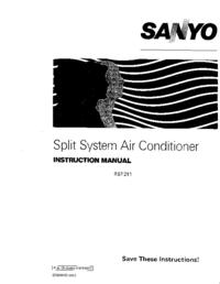 Bedienungsanleitung Sanyo RS1211