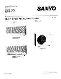 Instrukcja serwisowa Sanyo 18KMH12W