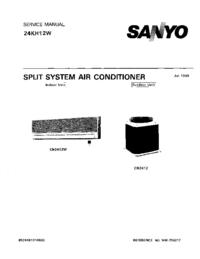 Manuale di servizio Sanyo 24KH12W