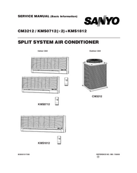 Manual de servicio Sanyo KMS1812