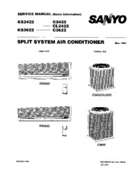 Service Manual Sanyo CL2422