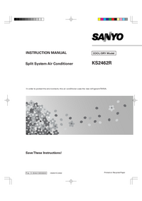 Manual del usuario Sanyo KS2462R