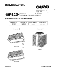 Service Manual Sanyo RS2422B