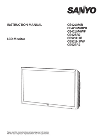User Manual Sanyo CE52SR2