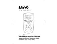 Gebruikershandleiding Sanyo DAS-204
