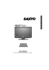 User Manual Sanyo DP19640