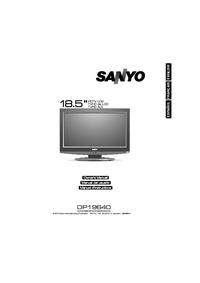 Instrukcja obsługi Sanyo DP19640