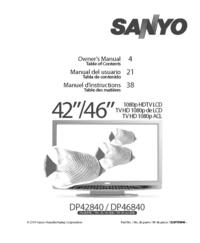 Руководство пользователя Sanyo DP46840