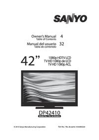 Instrukcja obsługi Sanyo DP42410