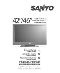 Manuale d'uso Sanyo DP46841