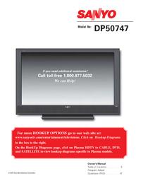 Instrukcja obsługi Sanyo DP50747