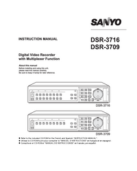 Manual del usuario Sanyo DSR-3709