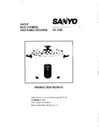User Manual Sanyo EC-310