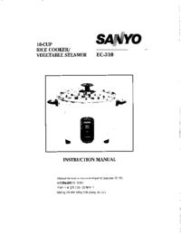 Manuale d'uso Sanyo EC-310