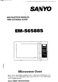 User Manual Sanyo EM-S6588S