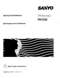 User Manual Sanyo FH1232