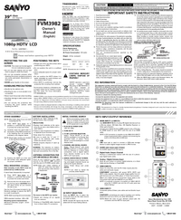 Manual del usuario Sanyo FVM3982