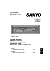User Manual Sanyo FXCD-550