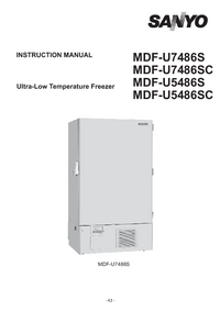 User Manual Sanyo MDF-U7486S