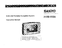 Manual del usuario Sanyo NVM-4030