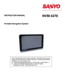 Manual del usuario Sanyo NVM-4370