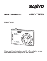 Manual del usuario Sanyo VPC-T850