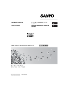 User Manual Sanyo KS0971