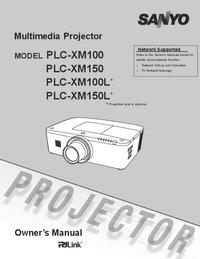 User Manual Sanyo PLC-XM150