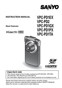 User Manual Sanyo VPC-PD2