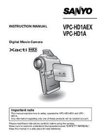 User Manual Sanyo VPC-HD1AEX