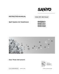 Serviceanleitung Sanyo KHS0951