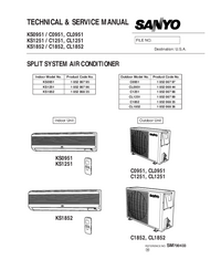 Service Manual Sanyo CL0951