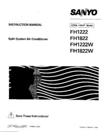 Service Manual Sanyo FH1 222W