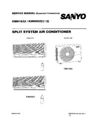 Manuale di servizio Sanyo KMH 0922
