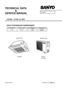 Manuale di servizio Sanyo CL 1852
